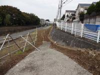 It is laid rubble near entrance