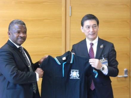 駐日ボツワナ共和国大使館と都筑区が共同発表をしました! 横浜市都筑区