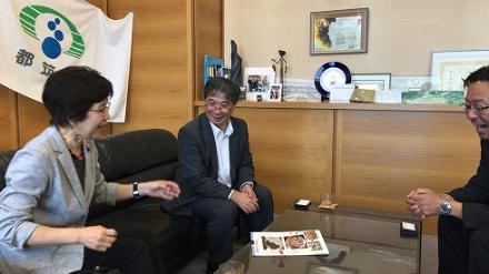 在ボツワナ日本大使館の竹田大使が来庁されました! 横浜市都筑区
